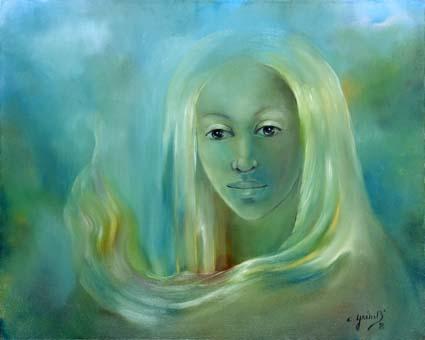 Chantal Grimb' Peinture à Huile Titre Rève