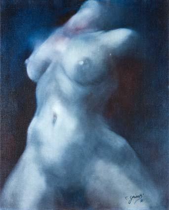 Chantal Grimb' Titre Elan Peinture à Huile
