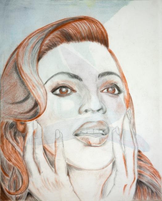 Crayon sur Toile SBD portrait de femme