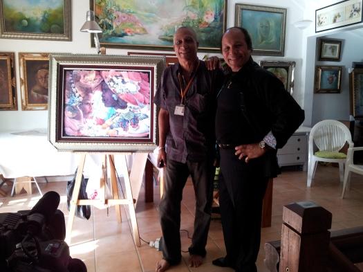 passage d'un Artiste Caraibéen à la Galerie